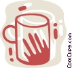 Vector Clip Art picture  of a Cups of Coffee
