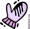Vector Clip Art graphic  of a Mittens
