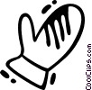 Vector Clipart graphic  of a Mittens