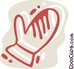 Vector Clipart picture  of a Mittens
