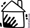 Vector Clipart image  of a Urban Housing
