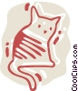 Vector Clipart image  of a Cats