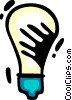 Vector Clipart image  of a Light bulbs