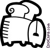 Vector Clipart graphic  of a Toasters