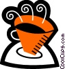 Vector Clipart image  of a Cups of Coffee