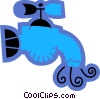 Faucets Vector Clipart illustration