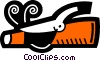 Vector Clip Art image  of a Curling Irons