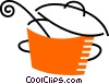 Vector Clip Art image  of a Pots and Pans