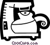 Coffee Pots and Coffee Makers Vector Clipart illustration