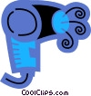 Hair Dryers or Blow Dryers Vector Clipart picture