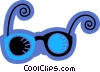 Vector Clipart graphic  of a Glasses and Eyeglasses