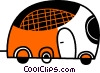 Vector Clipart picture  of a Tour Buses