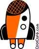 Rockets Vector Clip Art graphic