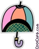 Umbrellas Vector Clip Art graphic