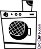 Vector Clip Art image  of a Washing Machines