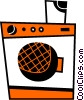 Vector Clip Art graphic  of a Washing Machines