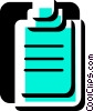 Vector Clip Art graphic  of a Clipboards