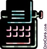 Vector Clipart picture  of a Typewriters