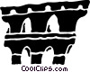 Roman Aqueducts and Walls Vector Clipart illustration