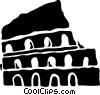 Roman Coliseums Vector Clip Art image