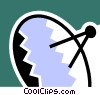 Vector Clipart graphic  of a Satellite Dish