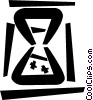 Vector Clipart graphic  of a Hourglasses