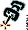 Vector Clip Art image  of a Pushpins Tacks