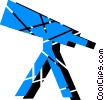 Vector Clipart illustration  of a Telescopes