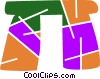 Vector Clip Art graphic  of a Stonehenge