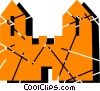Vector Clip Art picture  of a Castles