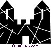 Castles Vector Clip Art graphic