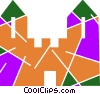 Vector Clipart graphic  of a Castles