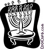 Vector Clip Art picture  of a Menorahs