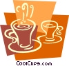Vector Clipart illustration  of a Cups of Coffee