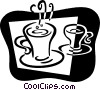 Cups of Coffee Vector Clip Art image