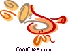 Vector Clipart graphic  of a Horns