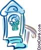 Vector Clip Art graphic  of a wreath on a door
