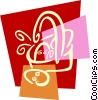 Easter basket with Easter eggs Vector Clipart image