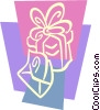Vector Clip Art graphic  of a Christmas Presents Gifts