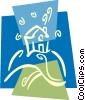 Vector Clip Art graphic  of a Urban Housing