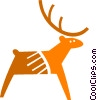 Vector Clipart graphic  of a Reindeer