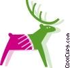 Vector Clip Art image  of a Reindeer