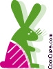 Rabbits Vector Clipart illustration