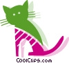 Vector Clip Art image  of a Cats