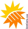 Vector Clipart picture  of a The Sun