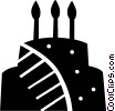Vector Clipart graphic  of a Cakes