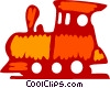 Toy Trains Vector Clip Art graphic