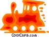 Toy Trains Vector Clipart illustration