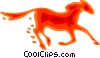 Vector Clipart picture  of a Horses