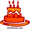 Birthday Cakes Vector Clipart image